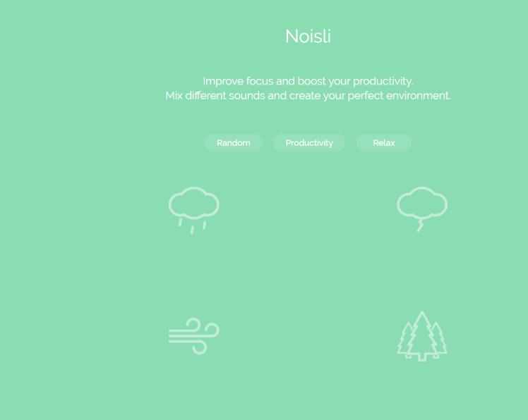 Capture d'écran site Noisli